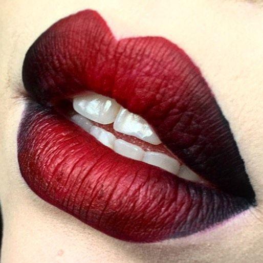 Wicked Black and Red Ombré Lips Using Kat Von D Everlasting Liquid Lipsticks!