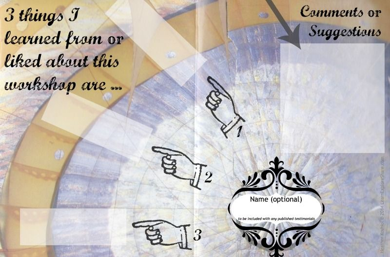 Creative Workshop Evaluation Form  Background Image Is From A