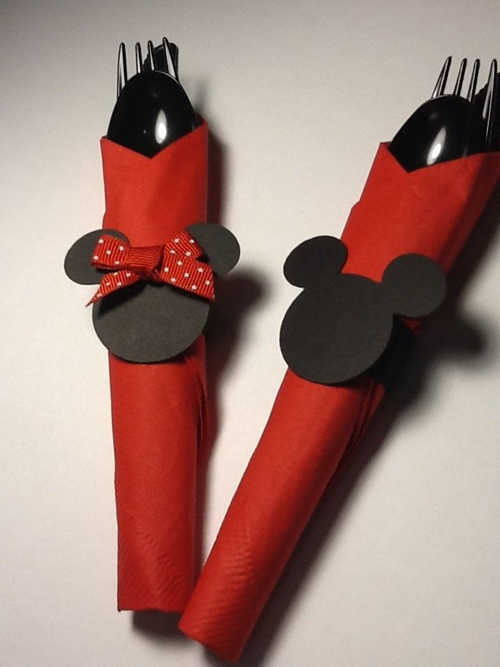 12 mickey mouse and minnie birthday party napkin by for Mobilia wedding