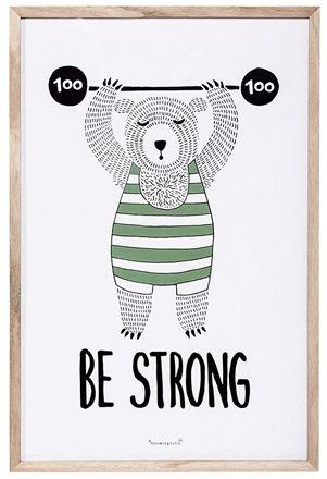 Bloomingville Tavla Circus Be Strong 7b71dd6871807