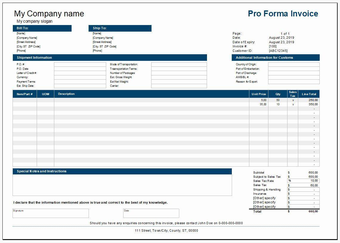 Proforma Invoice Template Pdf Lovely Aœ Free Printable Proforma Invoice Template 990 Invoice Template Templates Rental Agreement Templates