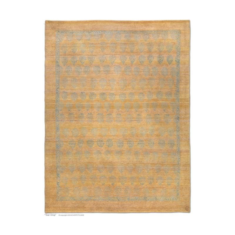Tear Drop neutral area rug