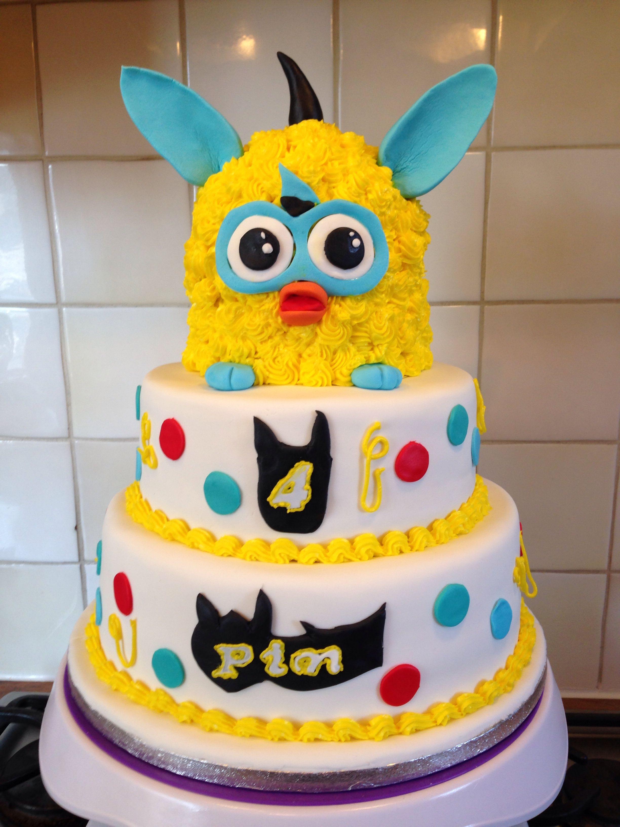 Furby taart furby cake birthday cake cake girl cakes