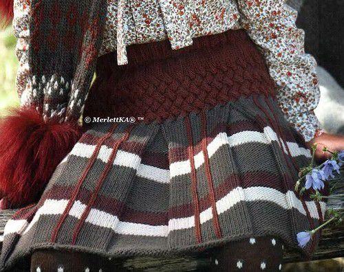 Вязание спицами для детей - две юбки. | Для детей ...вязальное | Постила