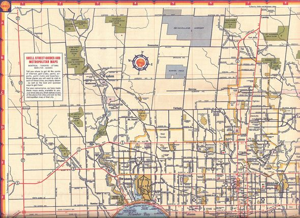 Maps Toronto.Toronto Road Map C 1947 Vintage Maps 1940s Canada Native