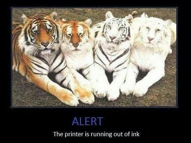 Running out of ink!