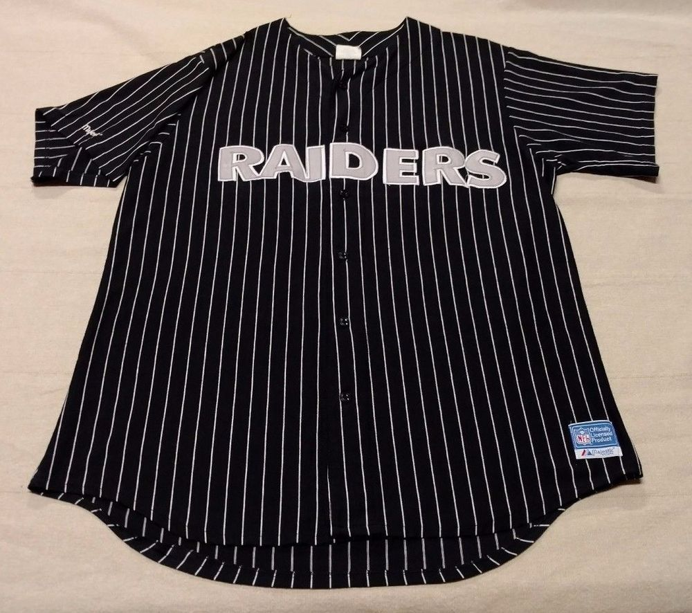 on sale 5df70 974eb Vintage OAKLAND RAIDERS Majestic NFL S/S Jersey Black ...