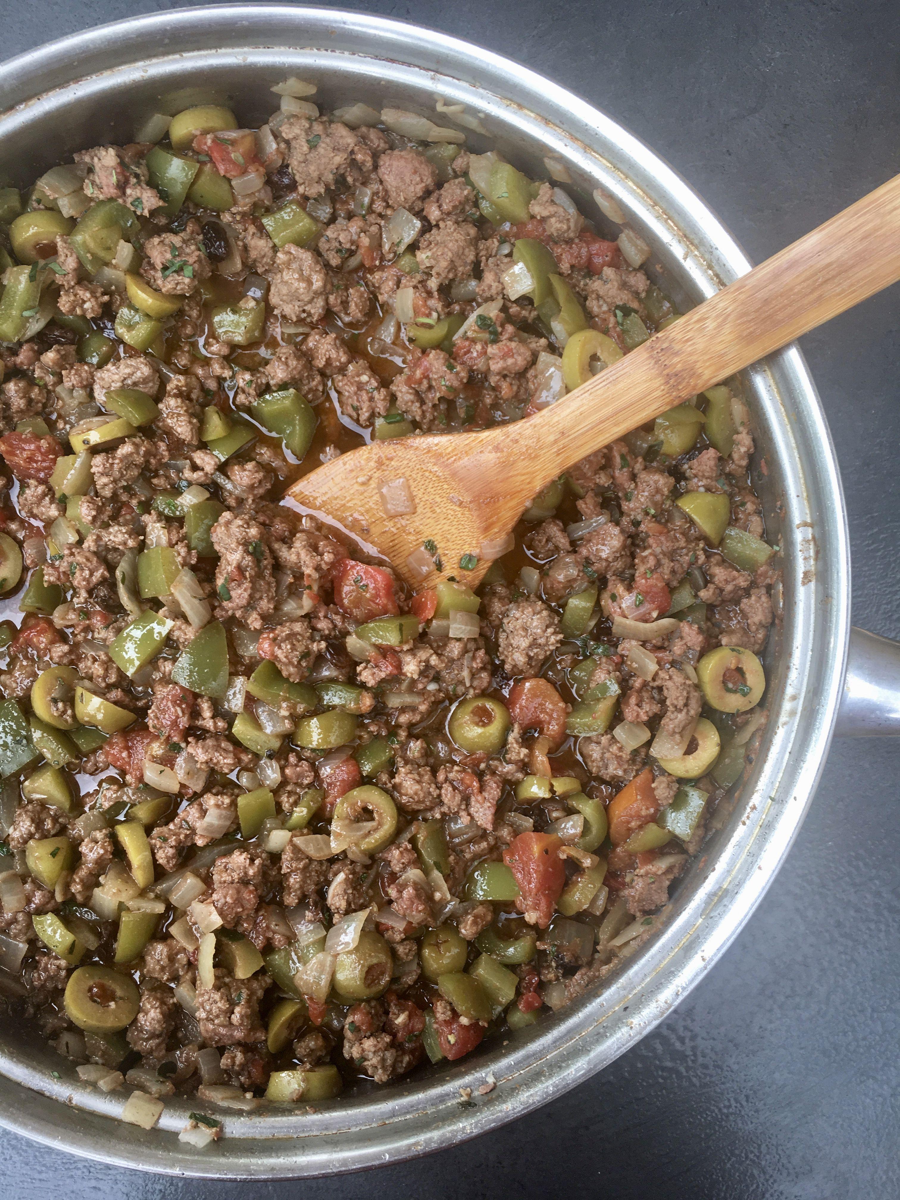Cuban picadillo recipe beef recipes olive recipes