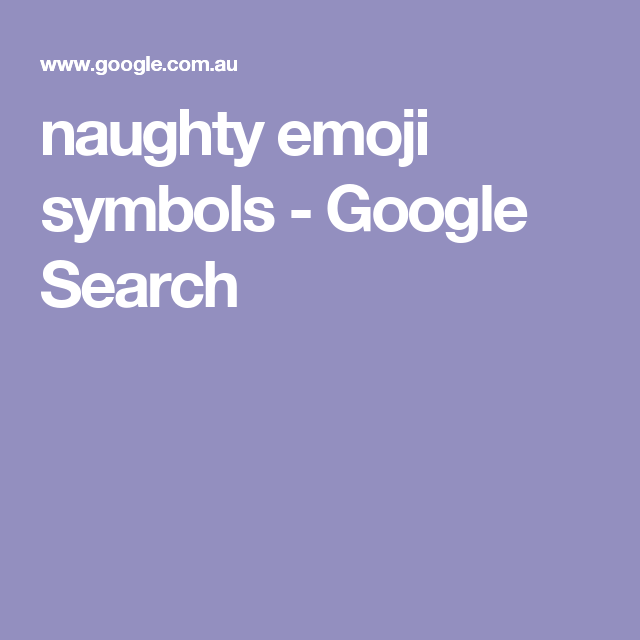 Be Naughty Search