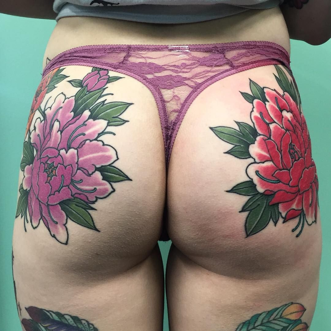 Flower bum tattoo by john ftw ink pinterest bum for Tattoos on your butt