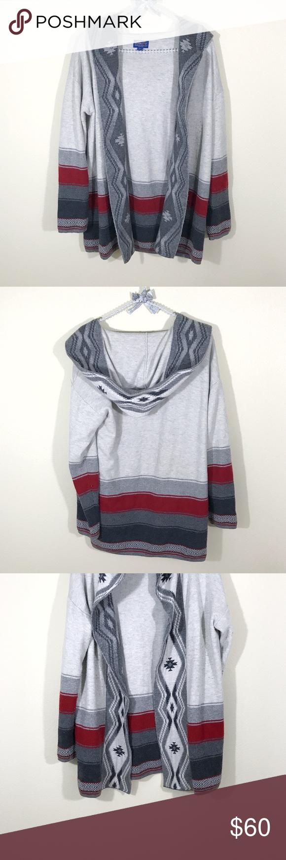 Pendleton Aztec Tribal Hooded Cardigan | Sweater cardigan, Cool ...