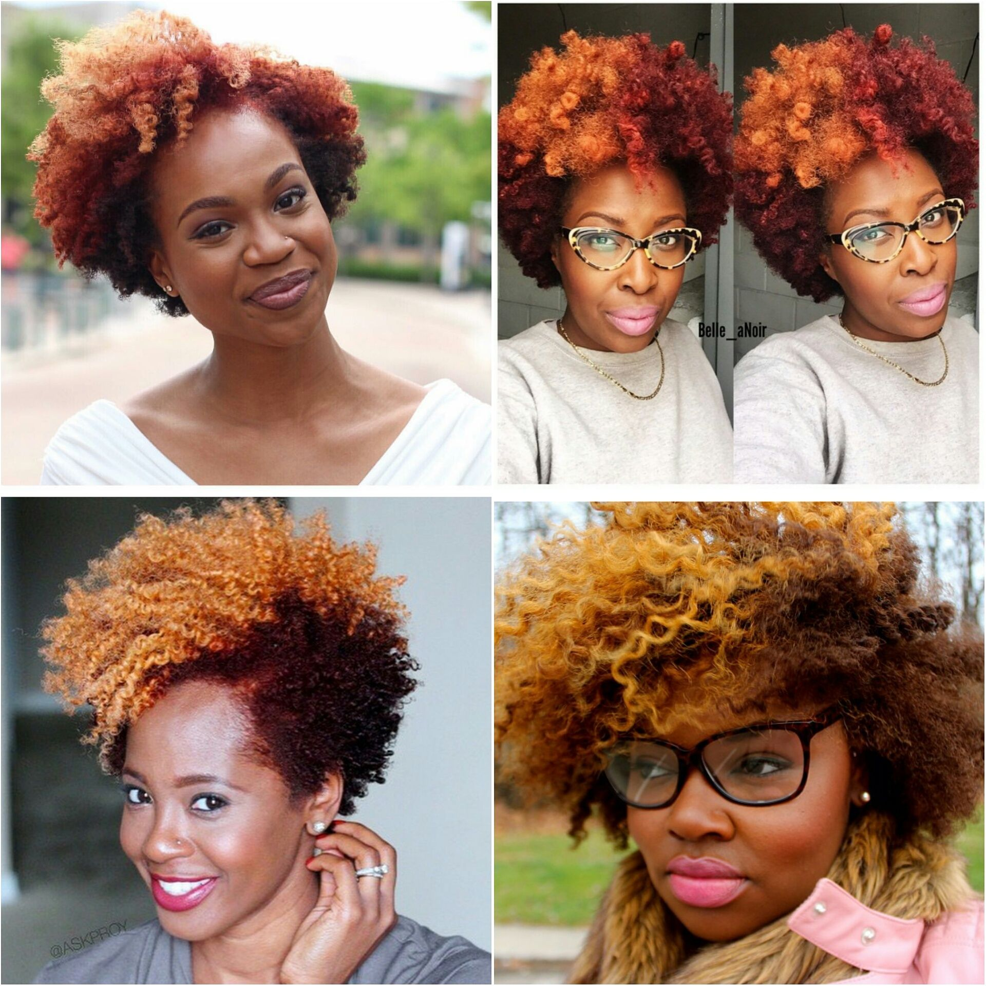 Summer Natural Hair Color Trend Blonde Red Tobnatural Blonde Natural Hair Dyed Natural Hair Tapered Natural Hair