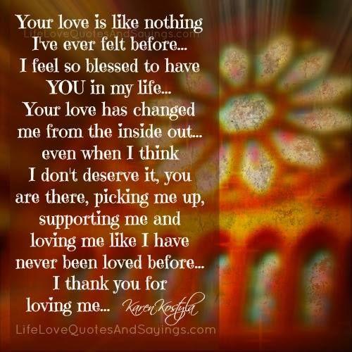 Your Love Is Like Nothing I've Ever Felt Before… I Feel So