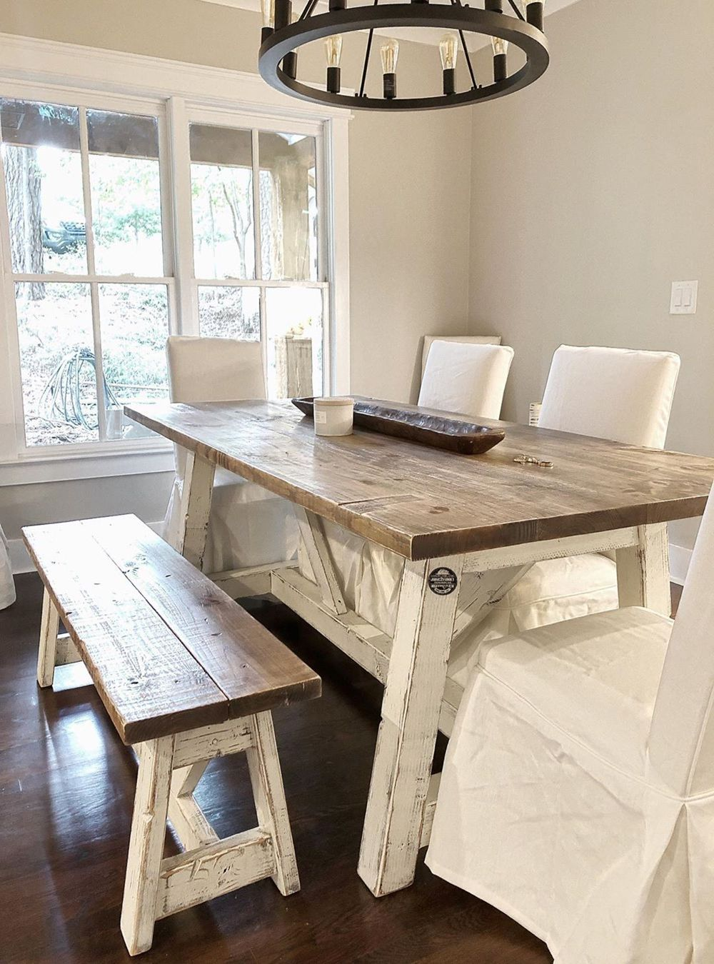 17+ Beautiful Rustic Kitchen Table with Bench Pictures ...