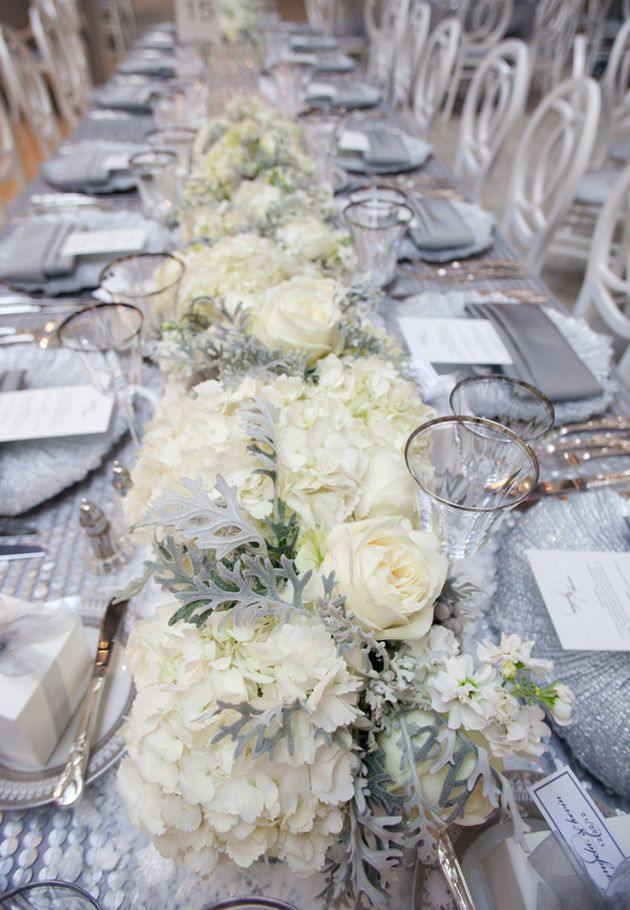 One Couples Wintry Themed Wedding Full Of Holiday Joy Pinterest