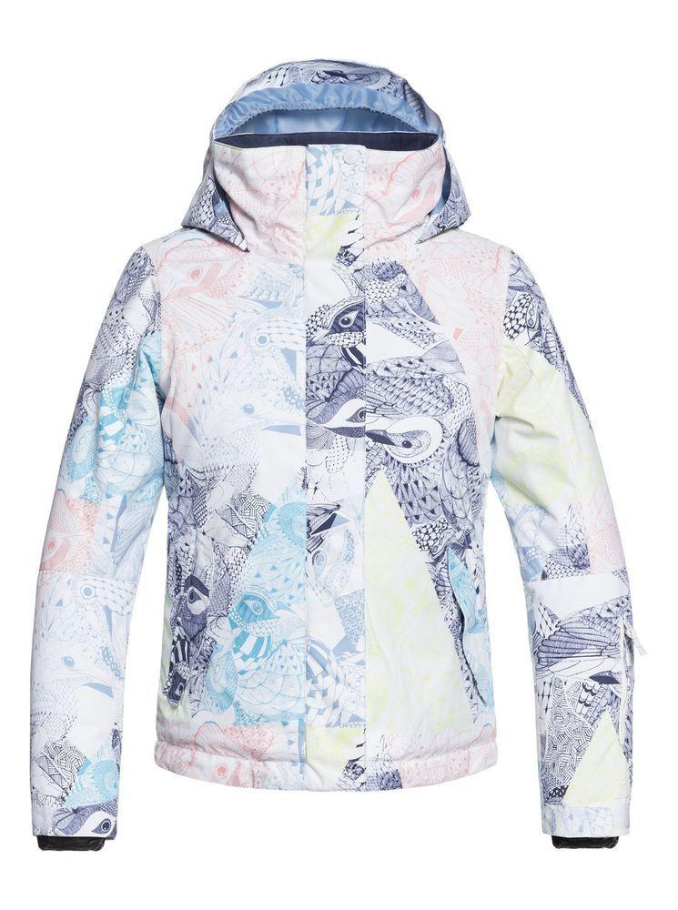 22f03b9fa eBay #Sponsored Roxy Girl's 7-14 ROXY Jetty Snow Jacket ERGTJ03058 ...
