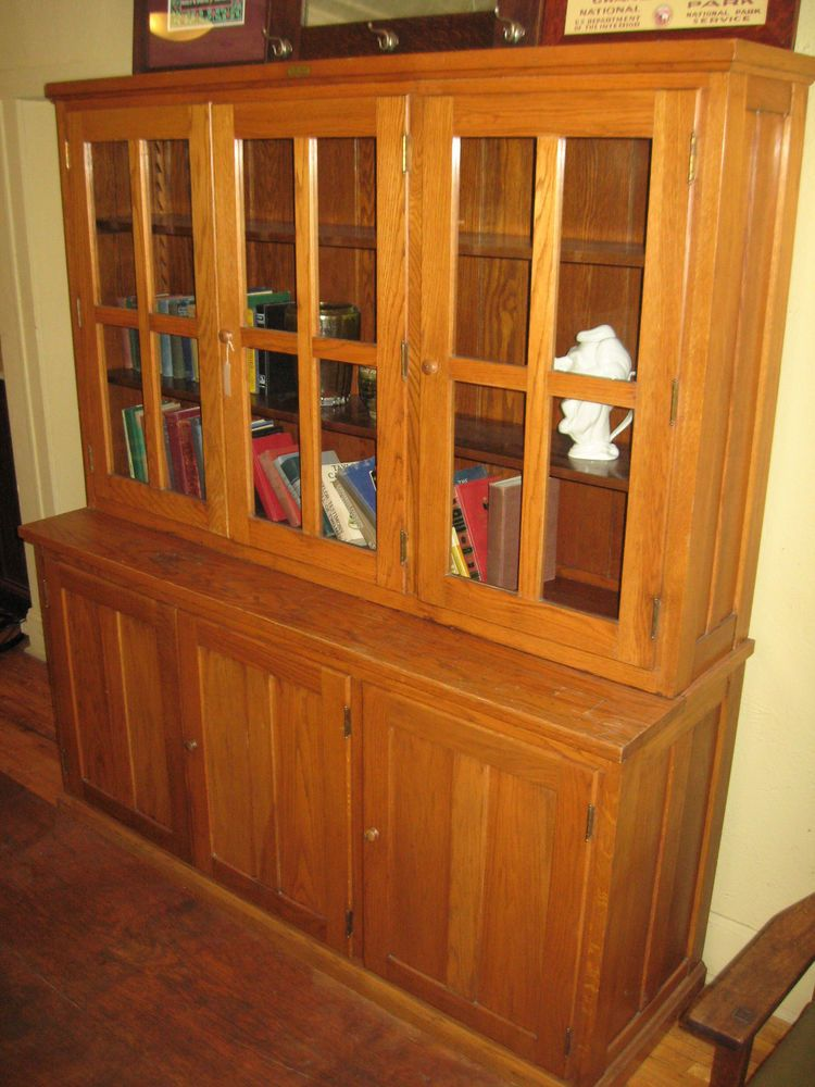 Antique School/China Kitchen Pantry Cupboard E H