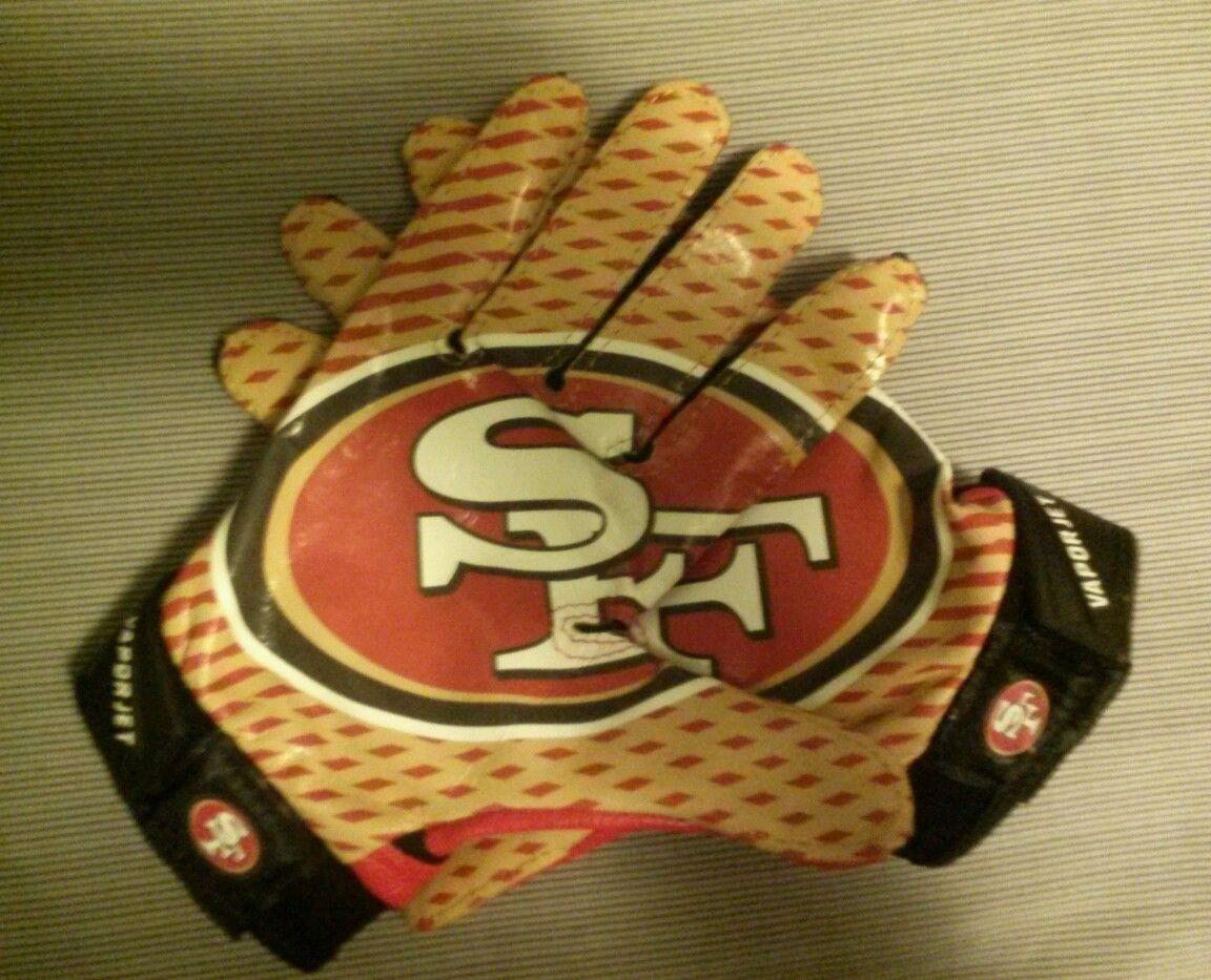 49ers nike vapor jet gloves 49ers 49ers football nike