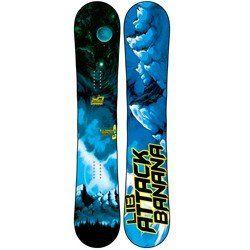 Lib Tech Attack Banana Snowboard 153 Ec2btx 2012 Snowboard Lib Tech Snowboarding Men