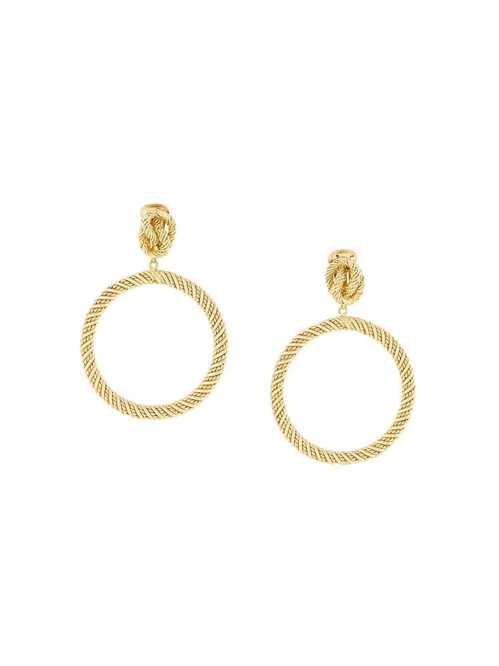 Dior Vintage Hoop Earrings Jewelry Gold The Real Slim Shady