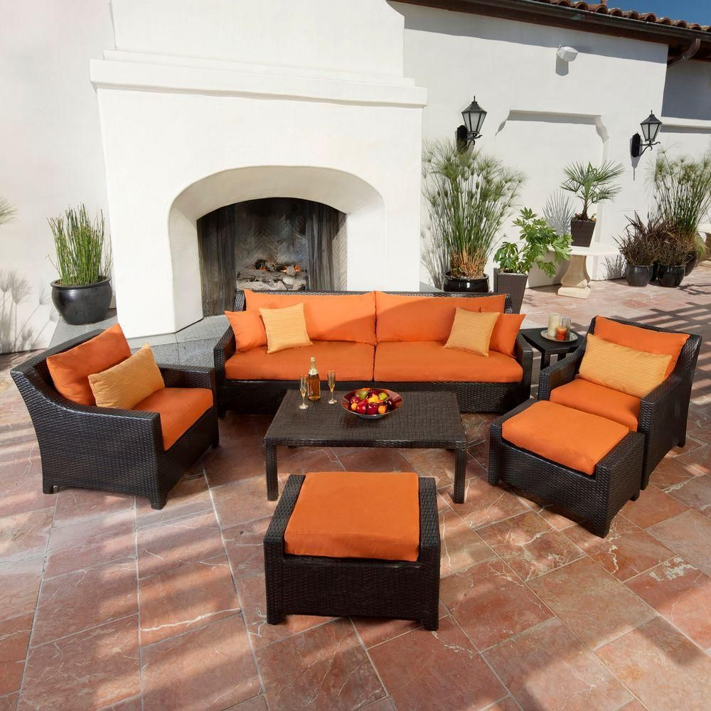 Cheap Furniture Brands: RST Brands Deco 8-Piece All-Weather Wicker Patio Sofa And