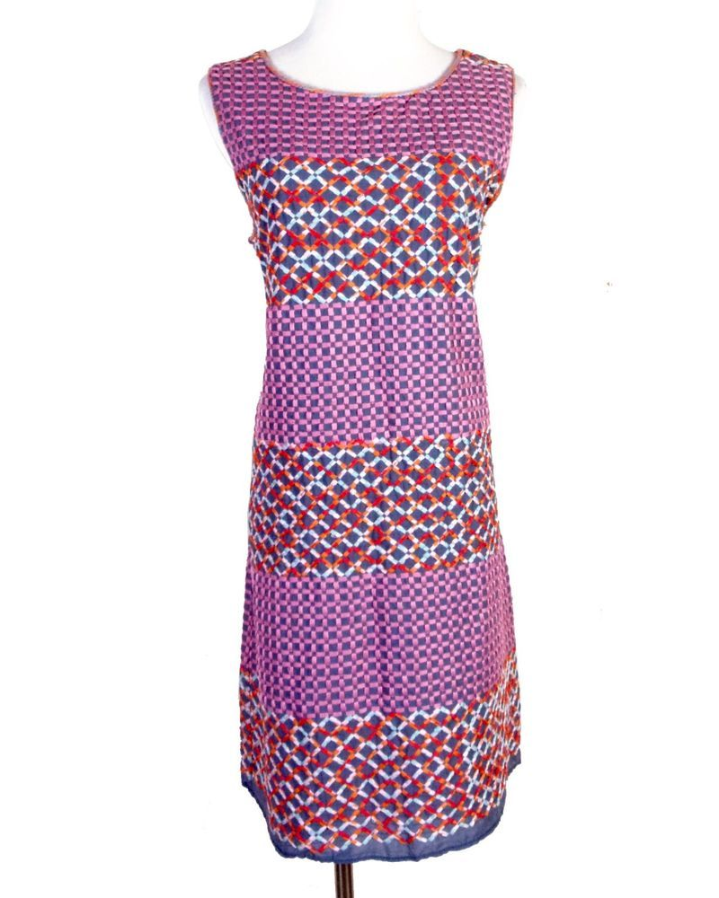 euc ANTHROPOLOGIE Chelsea & Violet Fully Embroidered Shift ...