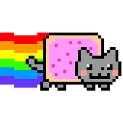Nyan Cat La Compil Nyan Cat Pusheen Cat Pixel Art
