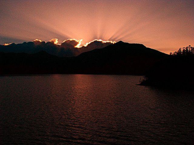 Sunset at Portmundu Dam - Mukurthi, India  by sakeeb, via Flickr