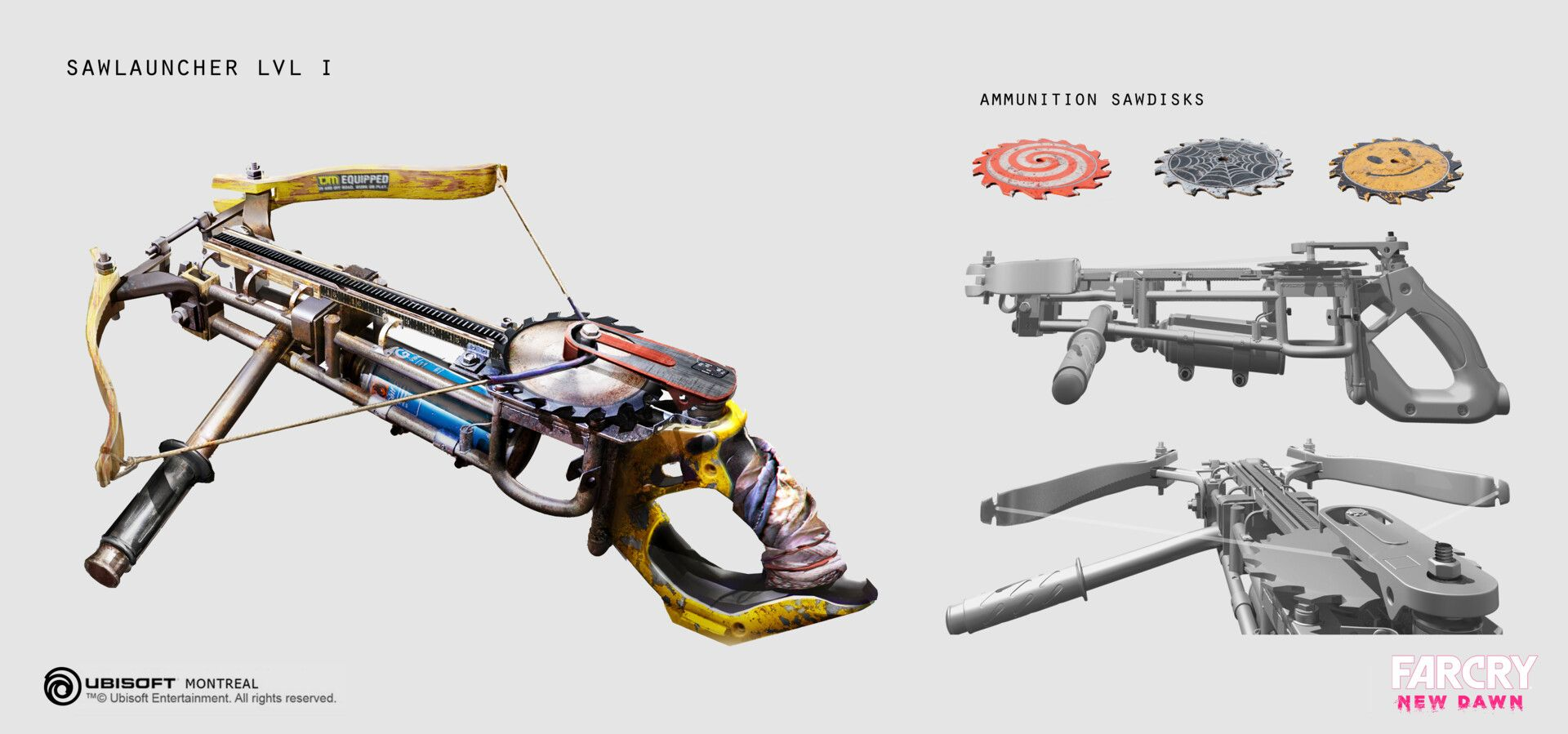 Artstation Far Cry New Dawn Saw Launchers Ying Ding Dawn Weapon Concept Art Crying