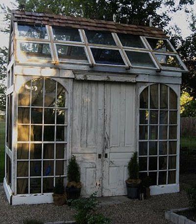 Abri Jardin Recuperation Cabane De Jardin Garten Gewachshaus
