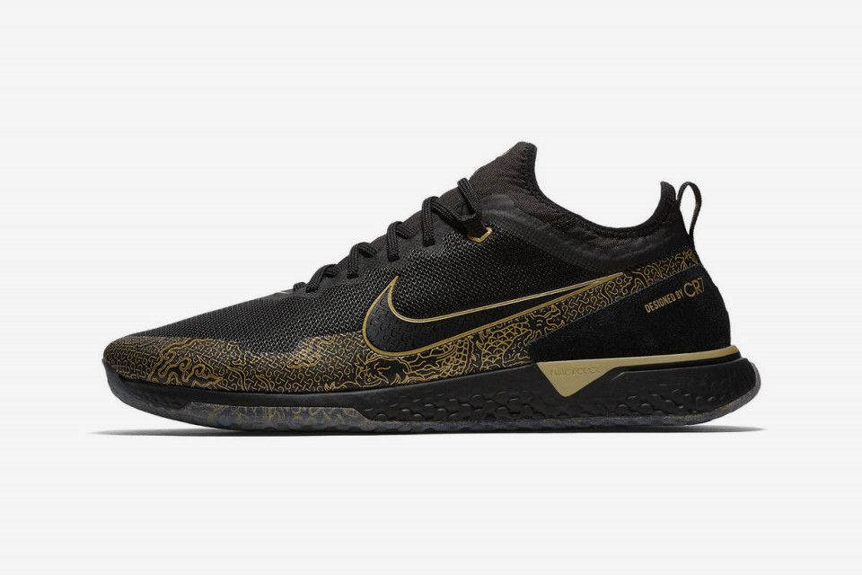 "20faacfbbf9e8 Nike React FC CR7 ""Black/Gold"": Release Date, Price & More Info ..."