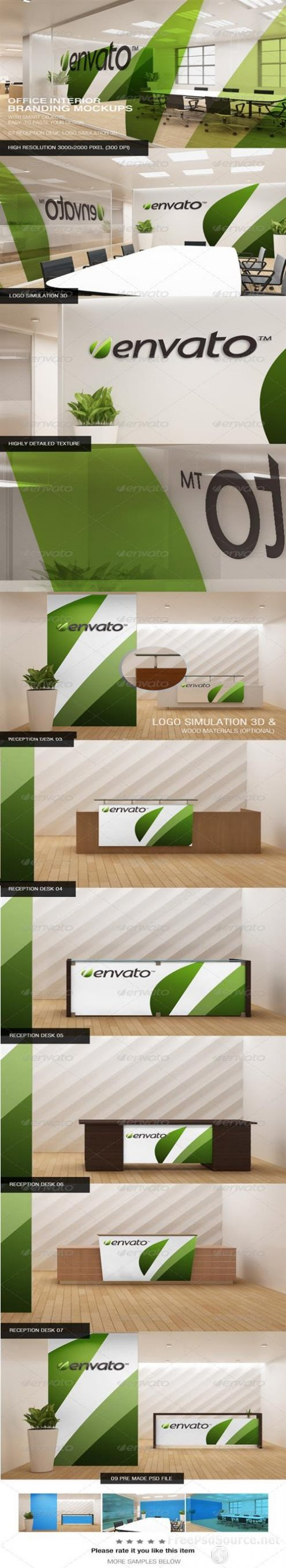 PSD Office Interior Branding Mockups Graphicriver Free Download Psd Source Tutorials