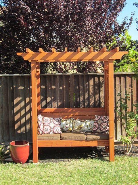 Would Love This Arbor Bench Opposite The Main Garden Gate Garden Bench Plans Garden Seating Garden Arbour Seat