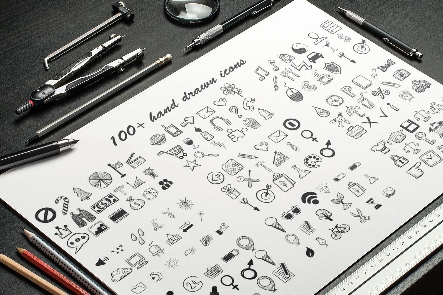 100+ Powerpoint Icons, Free Vector Icons, Set Hand Drawn