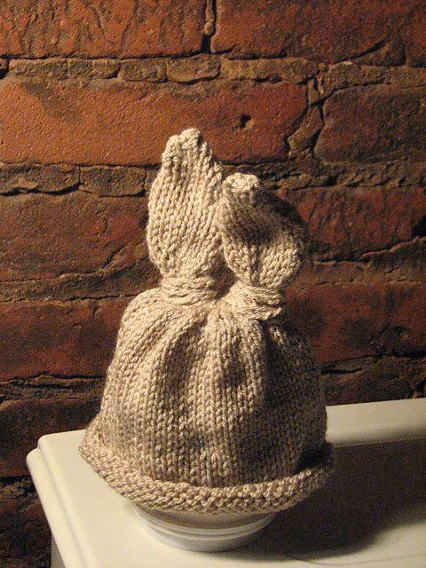 Baby Bunny Newborn or Preemie Hat pattern | Preemie hats ...