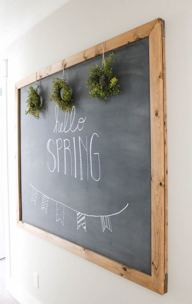 How To Make Your Own Large Hanging Chalkboard Hanging Chalkboard Diy Chalkboard Kitchen Chalkboard