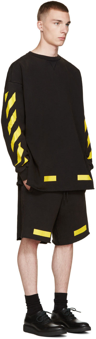 b976ab77d9cc Off-White - Black   Yellow Arrows Pullover
