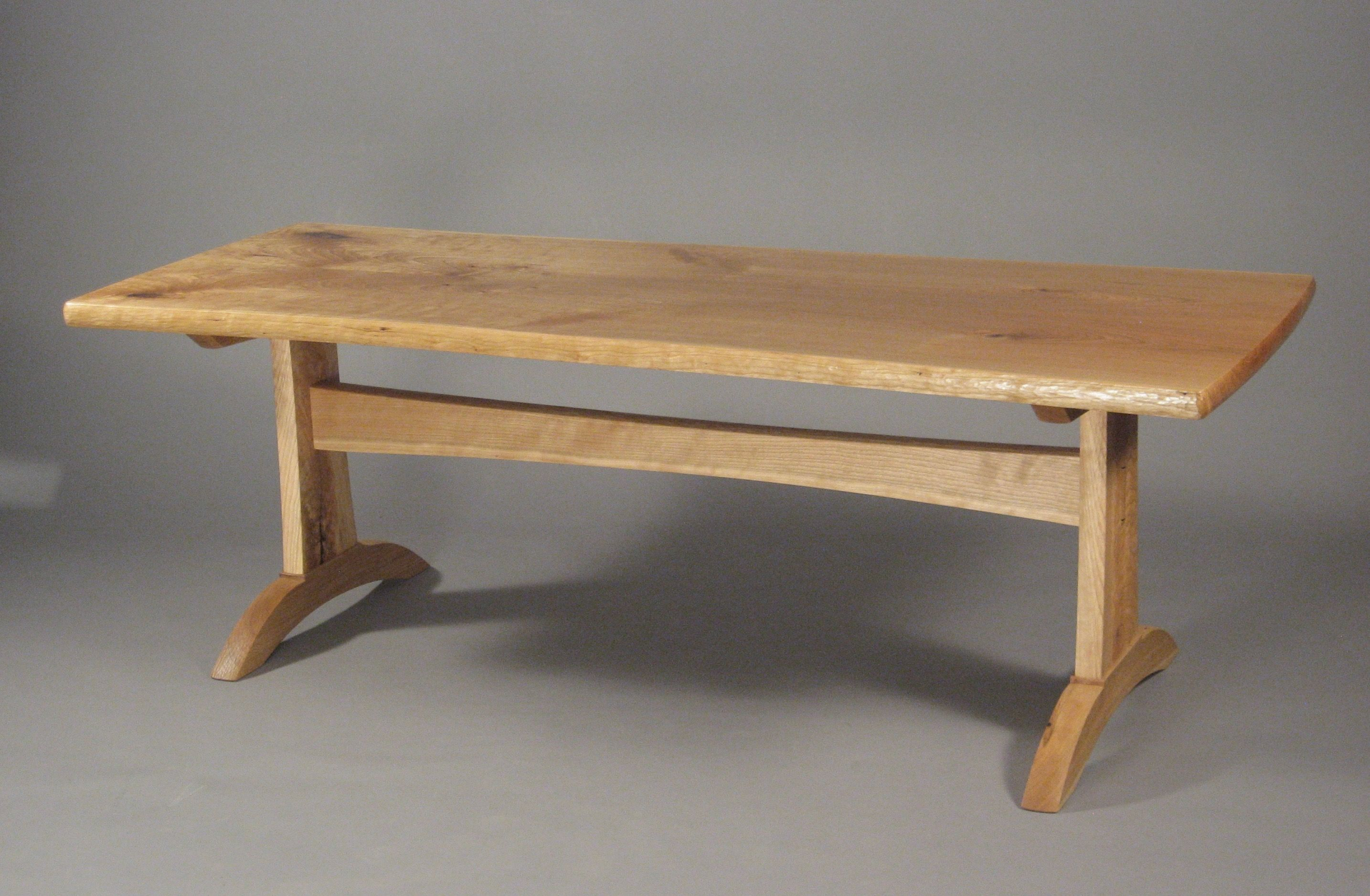 - Cherry Trestle Coffee Table By Dale Helms Fine Furniture, Member