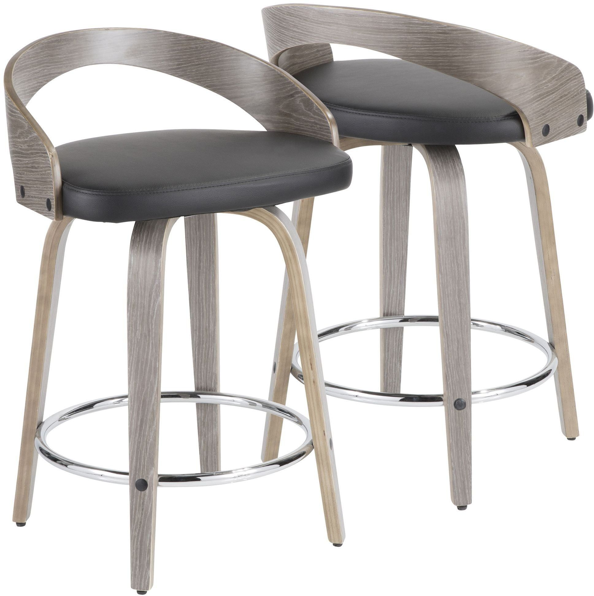 Grotto gray and black counter stool from lumisource available at a price thats affordable and free delivery to your home from coleman furniture
