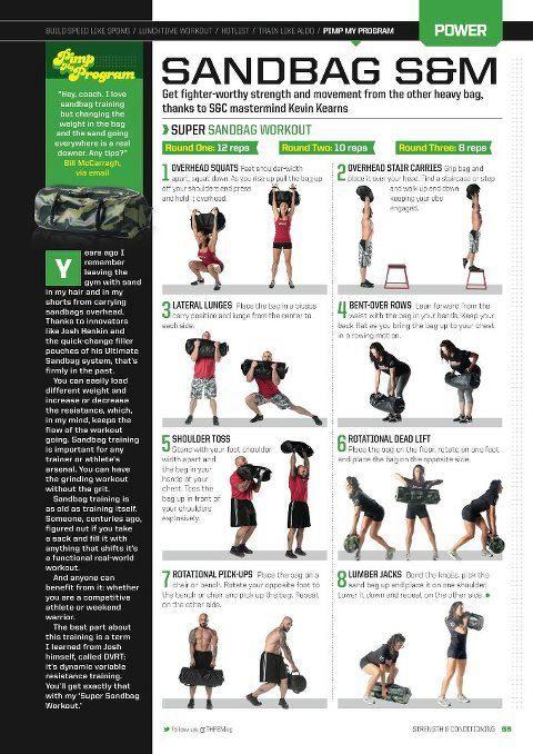 sANDBAG WORKOUT   workout   Sandbag workout, Workout, Fitness