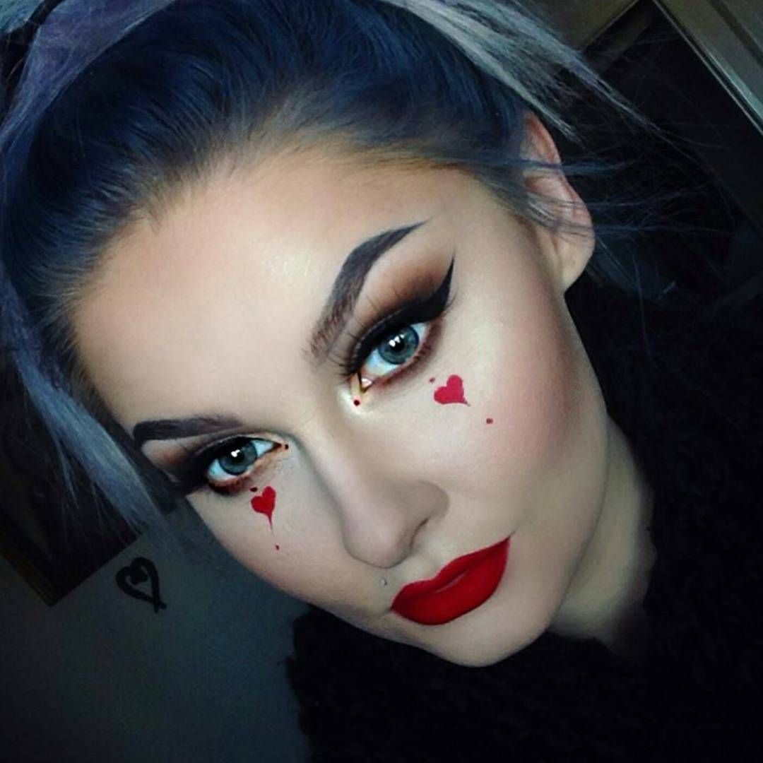 Makeup Ideas For Queen Of Hearts Costume Makeup Ideas Hearts Makeup Makeupideas Cute Halloween Makeup Halloween Makeup Easy Queen Of Hearts Makeup