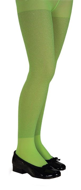 Girls Lime Glitter Tights - Stockings, Tights and Pantyhose