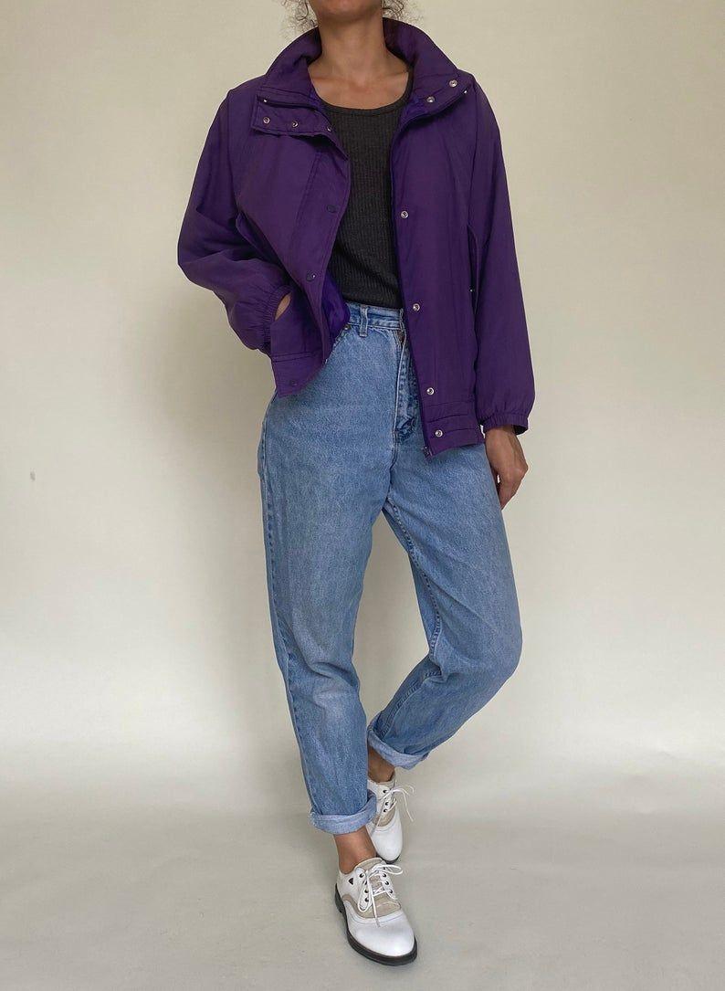 90s Vintage Retro Purple Lila Jacket Bomber Jacket Silk Etsy Puffy Jacket Outfit Bomber Jacket Outfit Oversized Bomber Jacket Outfit [ 1085 x 794 Pixel ]
