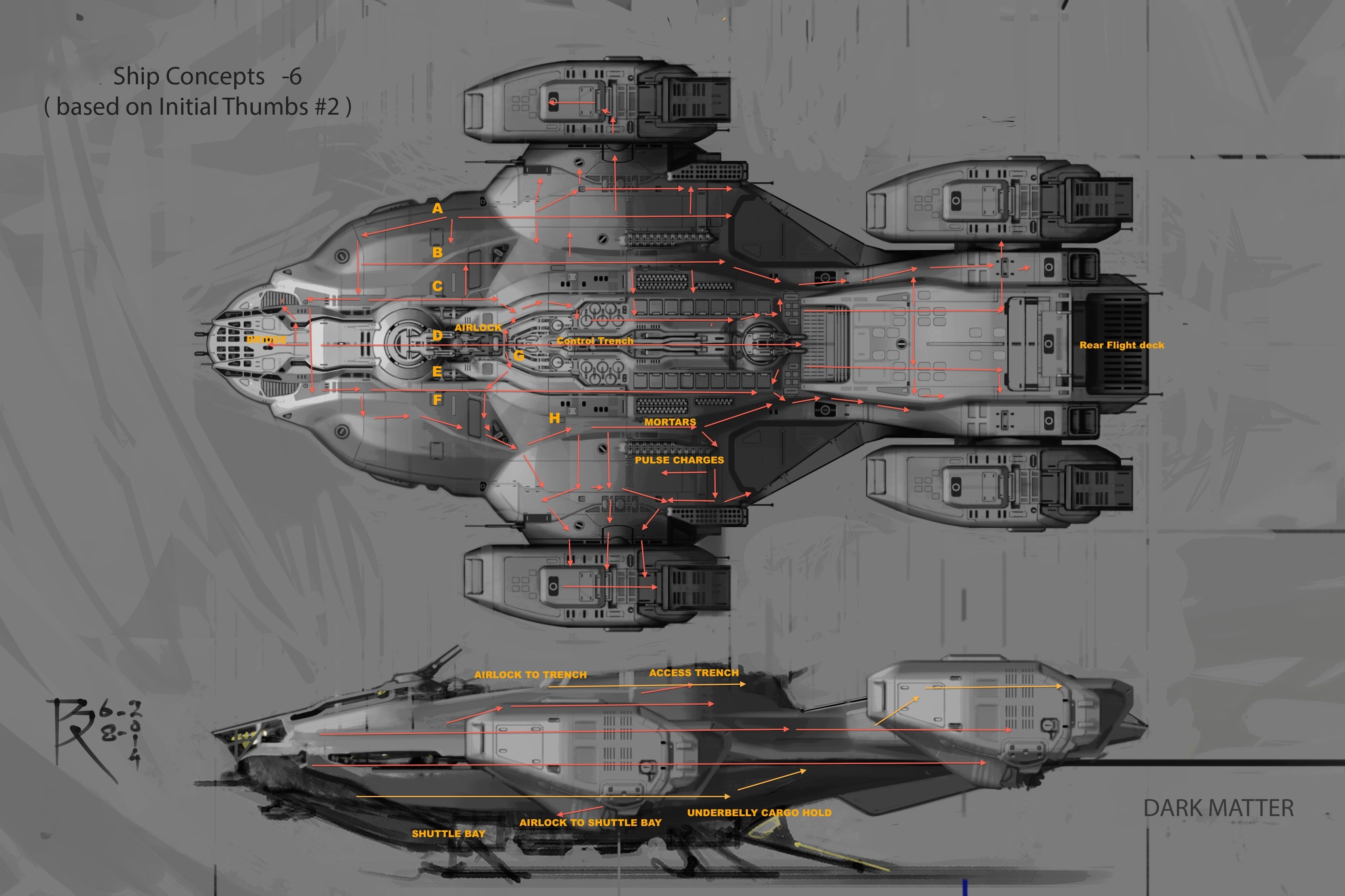Black themed spaceship conceptual artwork and wallpapers 1 design - Concept Art