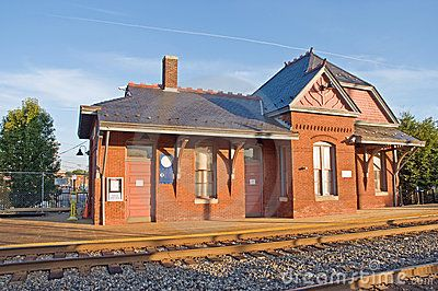 The Old Train Station Royalty Free Stock Image - Image: 17081276