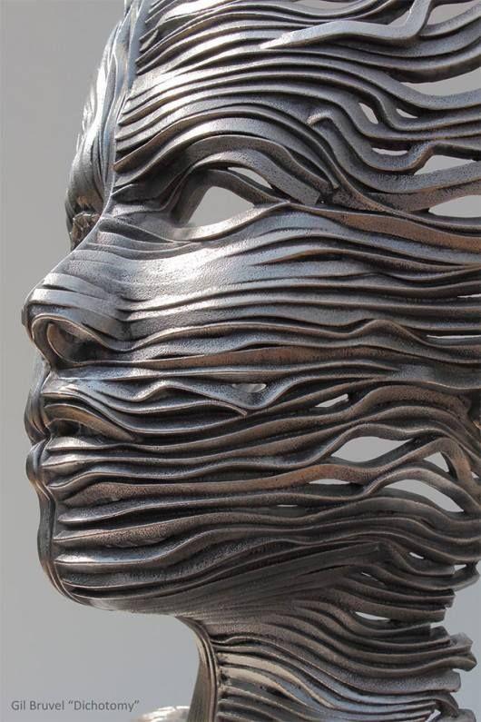 ESCULTURA | Por Gil Bruvel, em aço inoxidável. Linda!