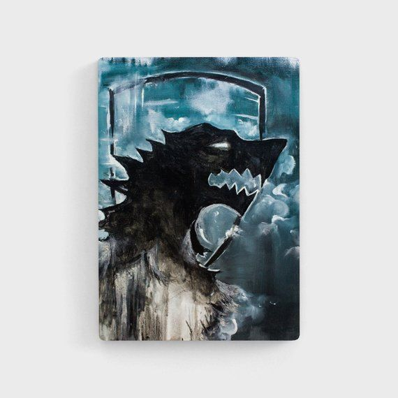Wolf Painting Game Of Thrones Oil Painting Got Art Wolf