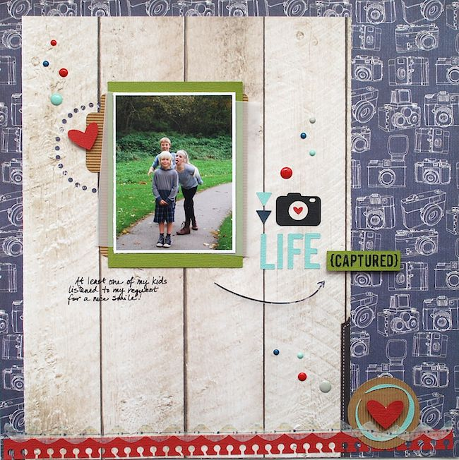 captured scrapbook layout | Cari Locken for Silhouette