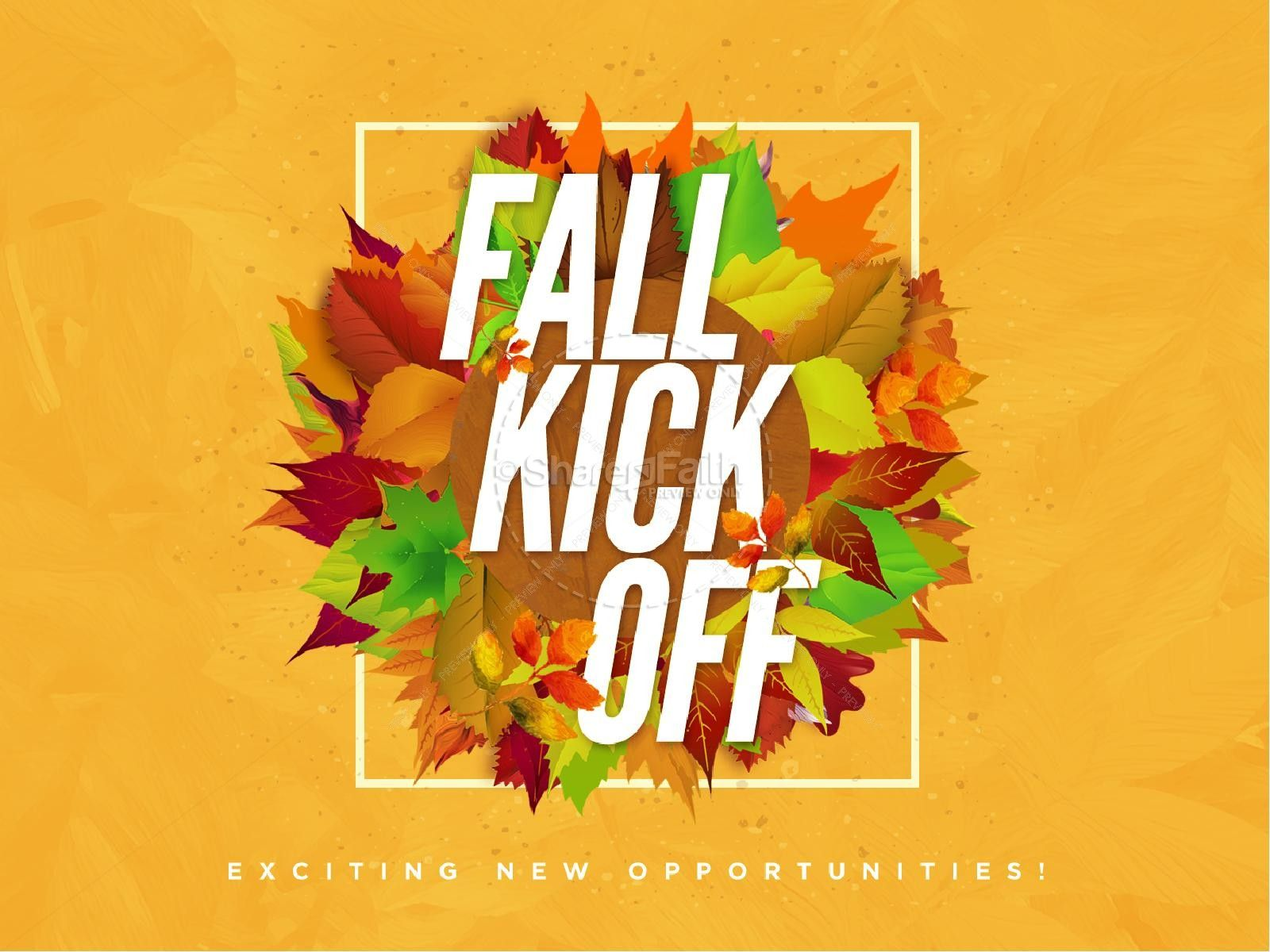 Church Fall Kickoff PowerPoint Template Templates, Fall