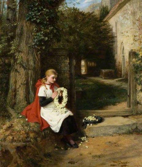 George Bernard O'Neill - Not Forgotten, 1882